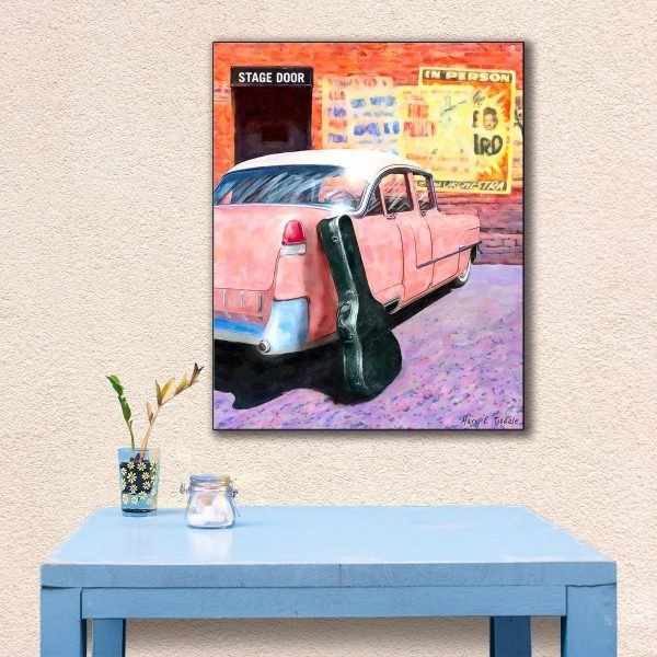 Elvis Inspired Pink Cadillac Canvas Print