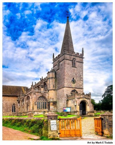 Village Church of Lacock Enland - Print by Mark Tisdale
