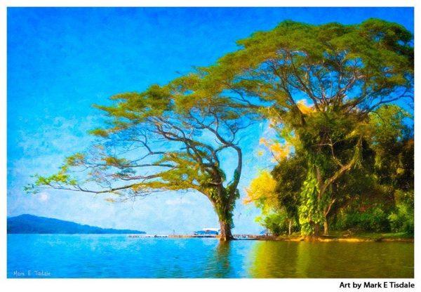 Fantasy Tree Art Print - Lake Nicaragua Print by Mark Tisdale