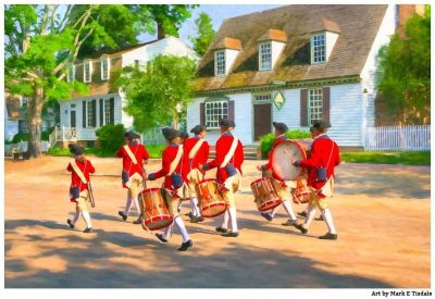 Fife And Drum Corps - Colonial Williamsburg Print by Mark Tisdale
