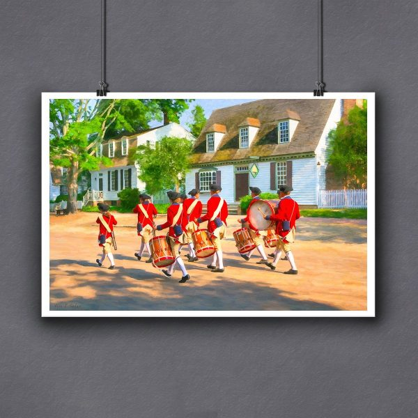 Ready to Frame Colonial Williamsburg Print of a Fife And Drum Corps