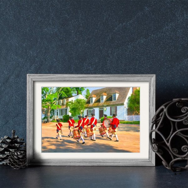 Fife And Drum Corps Framed Print by Mark Tisdale