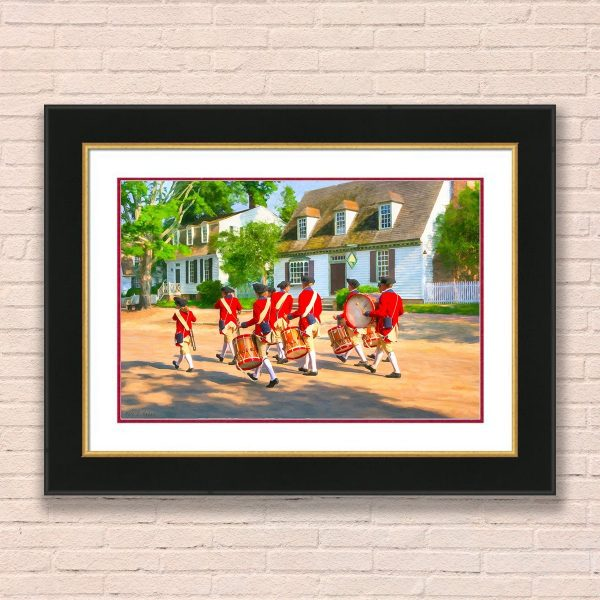 Fife and drum corps Framed Wall Art by Mark Tisdale