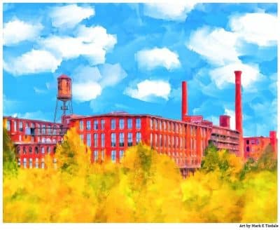Fulton Cotton Mill Lofts - Historic Atlanta Art Print by Georgia artist Mark Tisdale