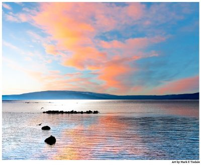 Galway Bay In The Sun - Irish landscape Print by Mark Tisdale