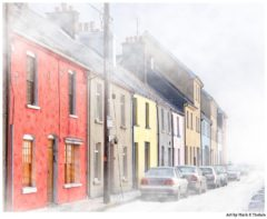 Galway City In A Winter Fog - Print by Mark Tisdale