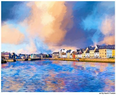 Beauitufl Day on the Waterfront in Galway Ireland - Print by Mark Tisdale
