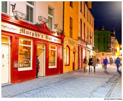 Galway Night Out - Irish Pubs Print by Mark Tisdale