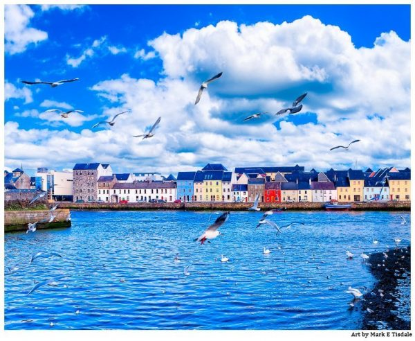 Galway Seaside in Western Ireland - Print by Mark Tisdale