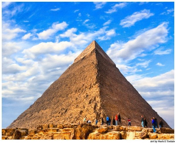 Giza Pyramids - Second Pyramid on the Plateau - Egypt Print by Mark Tisdale