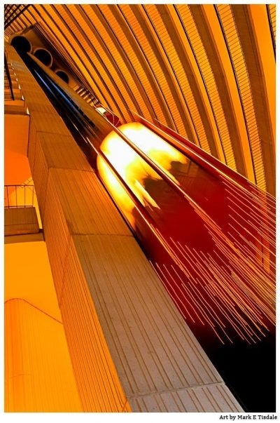 Golden Motion abstract Print by Mark Tisdale