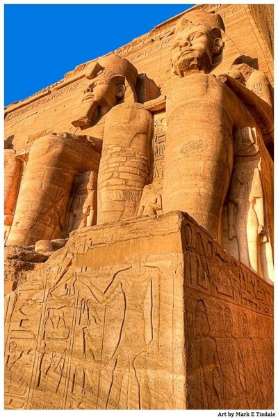 Ruins at Abu Simbel - Golden Egypt Print by Mark Tisdale