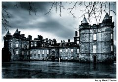 Holyrood Palace in Edinburgh - Brooding black and white print by Mark Tisdale