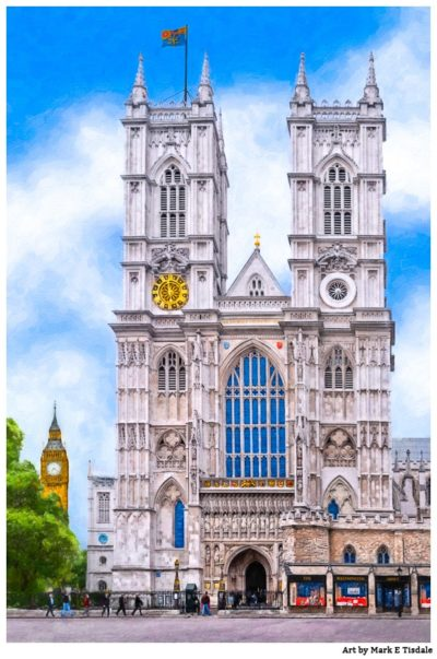 Westminster Abbey - London - Gothic Architecture Print by Mark Tisdale
