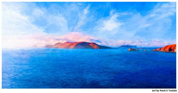 Great Blasket Island - Irish Panorama Art Print by Mark Tisdale