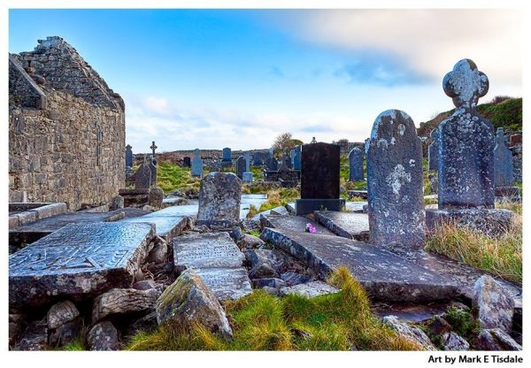 Hallowed Ground - Monastic Ruins on Inishmore in Ireland - Aran Island Print by Mark Tisdale