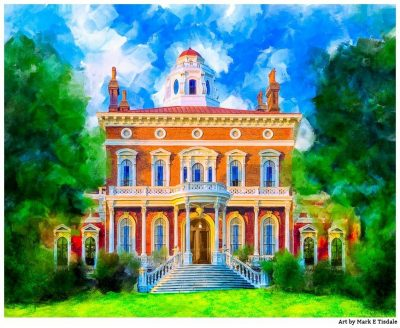 Hay House - Macon Georgia Art Print by local artist Mark Tisdale