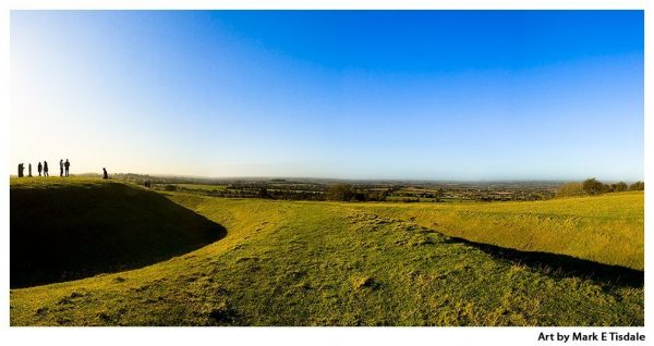 Hill of Tara Panorama - Ancient Irish Countryside - Print by Mark Tisdale