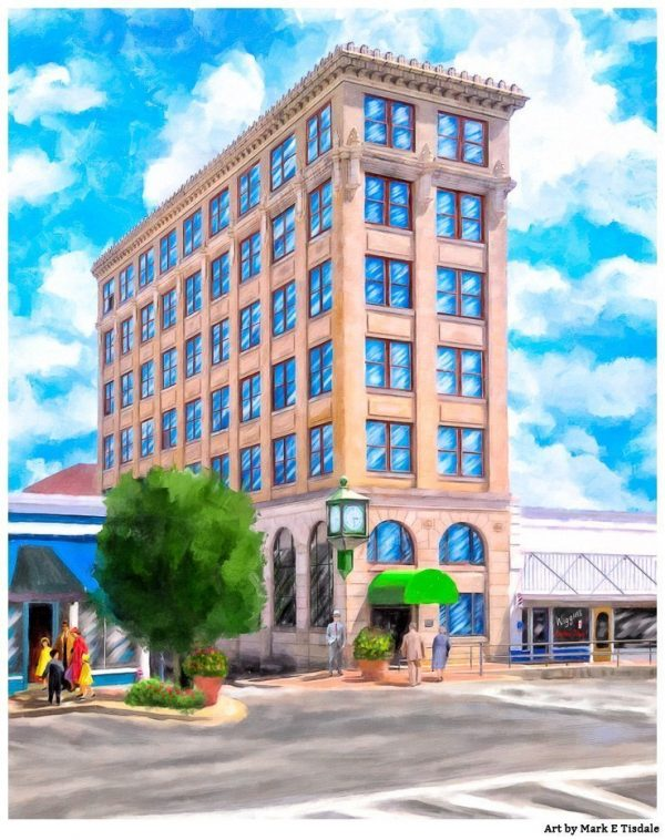 Historic Andalusia - First National Bank Building or Timmerman Building - Print by Mark Tisdale