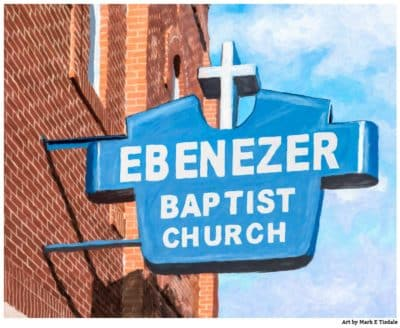 Historic Ebenezer Baptist Church - Sweet Auburn Print by Mark Tisdale