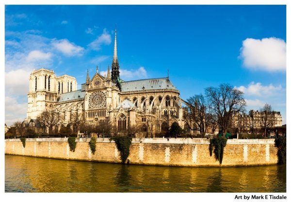 Historic Notre Dame de Paris - French Gothic Cathedral Print By Mark Tisdale