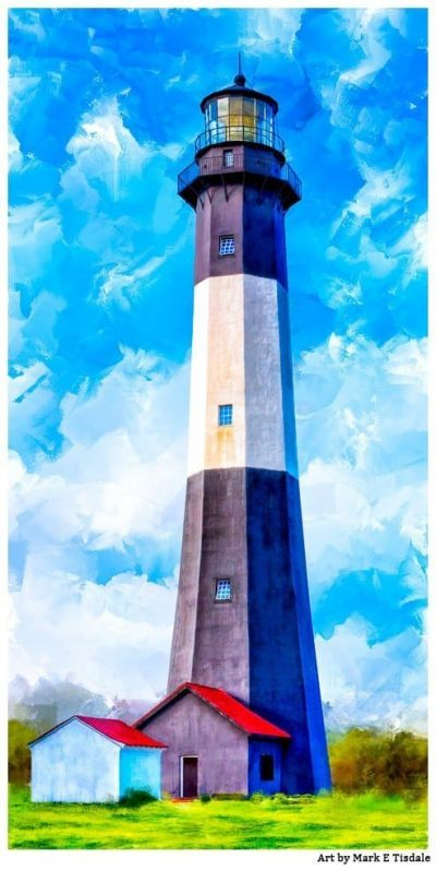 Historic Tybee Lighthouse Art Print by Georgia artist Mark Tisdale