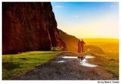 Holyrood Park art print by Mark Tisdale - The Path Ahead