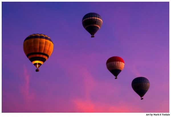 Hot air balloons in Egyptian Skies - Print by Mark Tisdale