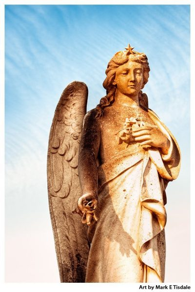 Irish Angel Print by Mark Tisdale - Dublin Glasnevin Cemetery
