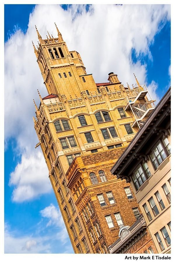 Historic Jackson building in Asheville North Carolina - Print by Mark Tisdale