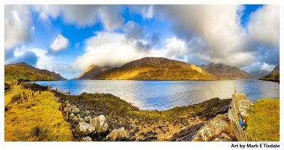 Killary Fjord - Irish Landscape Panorama Print by Mark Tisdale
