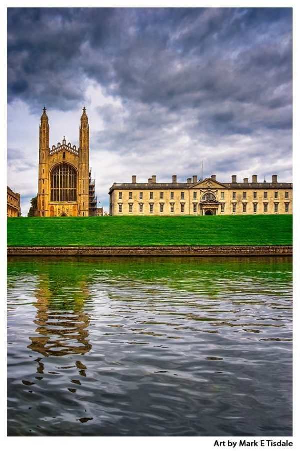 Kings College from the River Cam - Gothic Chapel Print by Mark Tisdale