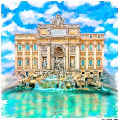Trevi Fountain in Rome - La Dolce Vita Print by Mark Tisdale