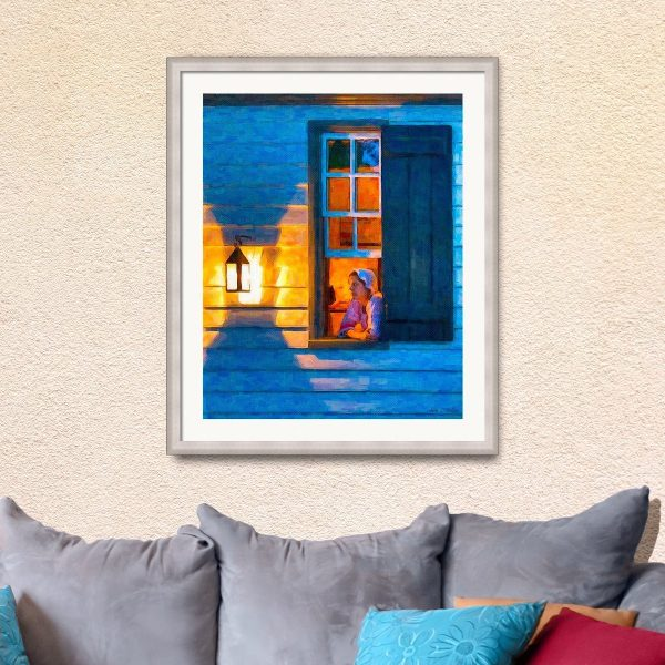 Colonial WIlliamsburg Framed Wall Art - Open Window by Lantern Light
