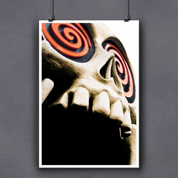 Little Five Points Skull Fine Art Print for Framing by Mark Tisdale