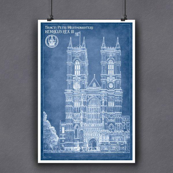 London Architectural Blueprint Art Print For Framing