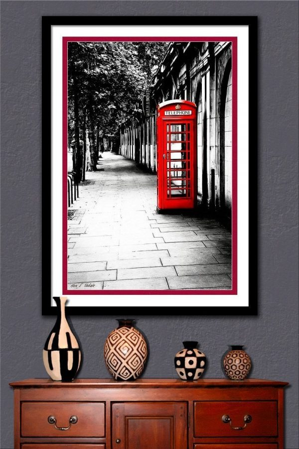 Red Telephone Box Framed Wall Art