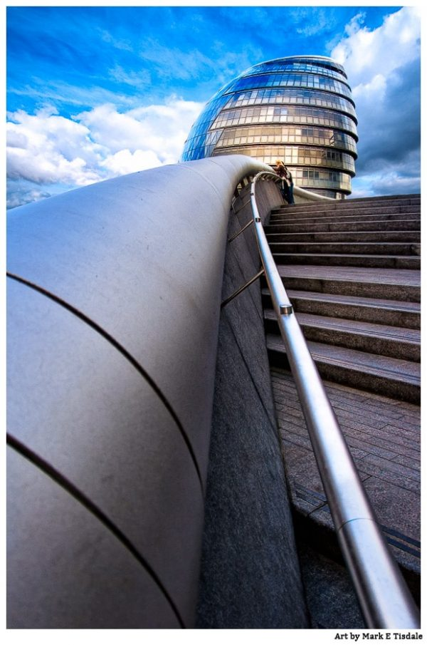 London City Hall - Modern Architecture Print by Mark Tisdale
