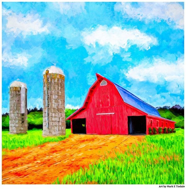 Lowder Red Barn - Auburn Campus Print by Mark Tisdale