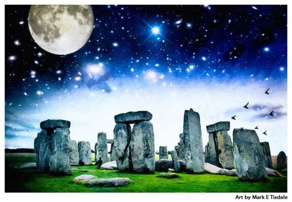 Magical Stonehenge Landscape - Ancient Standing Stone Circle Print by Mark Tisdale