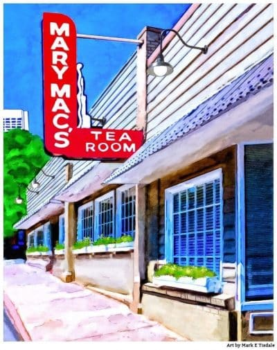 Mary Mac's Tea Room - Atlanta Midtown Landmark Print by Mark Tisdale