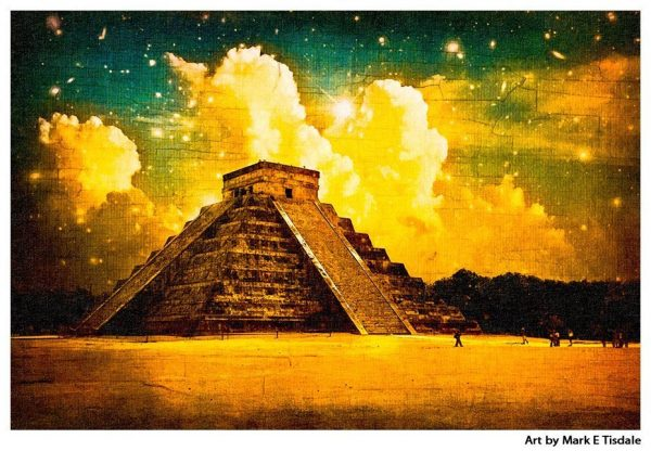 Mayan Mystery At Chichen Itza Print by Mark Tisdale