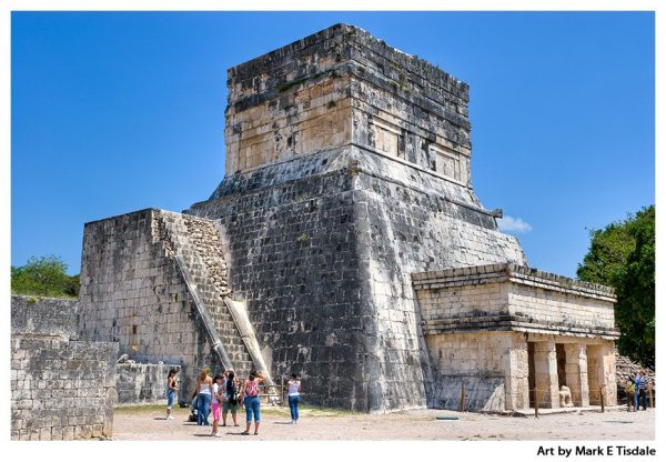 Ruins of Chichen Itza - Mayan Temple Art Print by Mark Tisdale