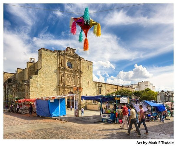 Mexican Culture art print by Mark Tisdale - Oaxaca Market Day