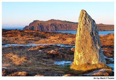 Irish Standing Stone Print by Mark Tisdale - The Dingle Peninsula - Ring of Kerry