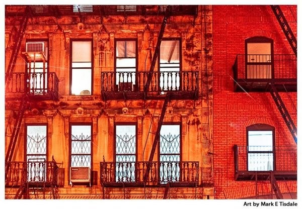 Vintage Style Manhattan at Night Print by Mark Tisdale