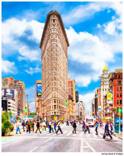 New York City Flatiron Building In Manhattan - Print by Mark Tisdale