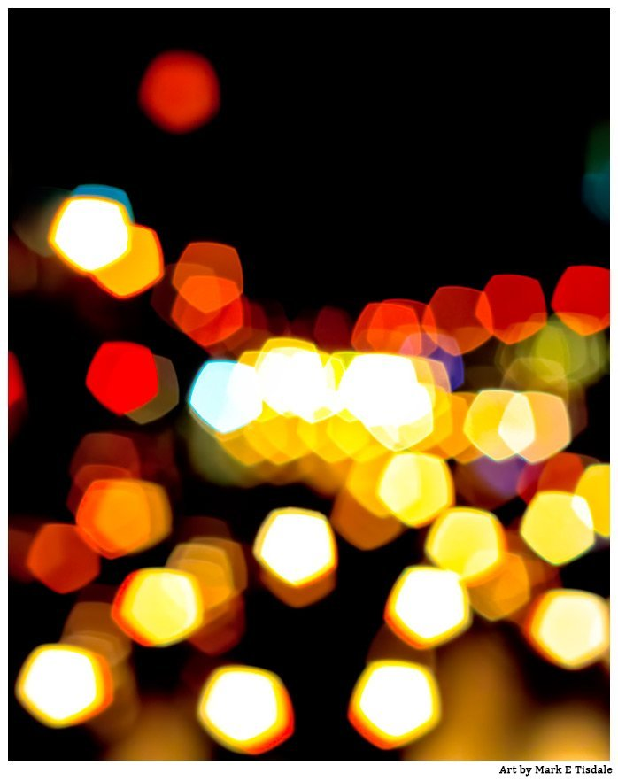 New York Rhythm - City Lights Abstract Art Print