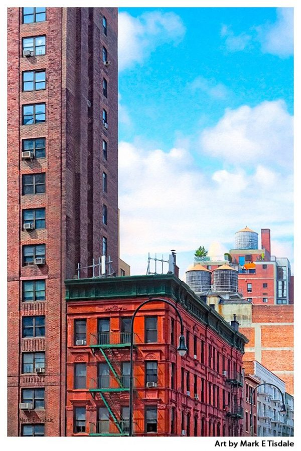 New York City Rooftops - Everyday NYC Print by Mark Tisdale
