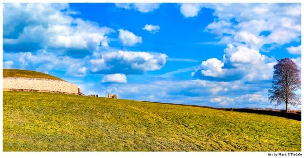 Newgrange Panorama Art Print by Mark Tisdale - Winter morning at the Ancient Neolithic Heritage Site